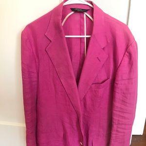 Pink Polo Ralph Lauren Linen Blazer